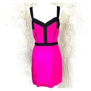 Rebecca Minkoff Fuchsia and Black Mini Dress